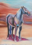 abstract horse in the desert